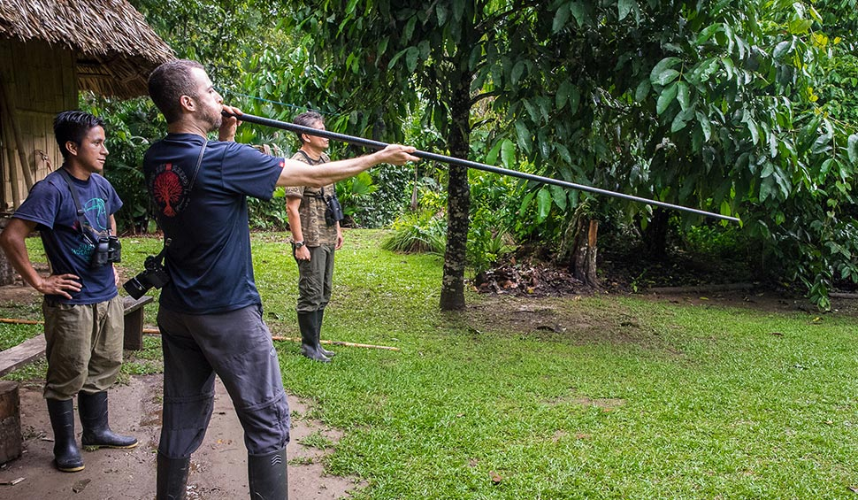 blowgun practice in the amazon jungle