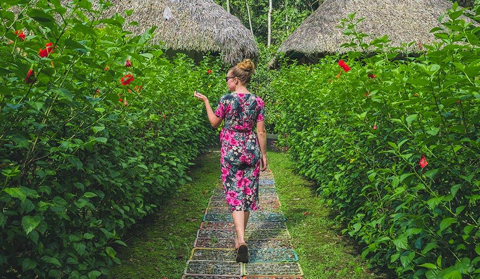 woman in the lodge walkways
