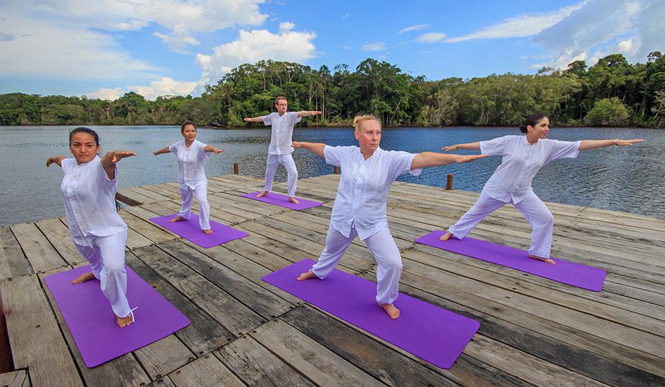 yoga time at la selva lodge